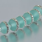 Frosted pale green beads
