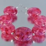 Pink lentil beads